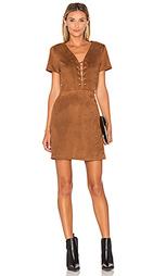 Платье из искусственной замши на шнуровке jaida - Lucy Paris