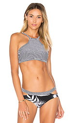 Riviera stripe high neck top - Seafolly