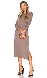 Вязаное миди платье из смеси кашемира с разрезом - Michael Stars