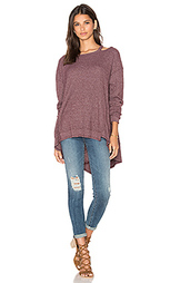 Open neck slouchy big back slant top - Wilt