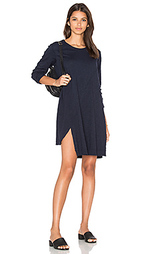 Long sleeve shifted trapeze dress - Wilt