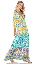 Макси платье в восточном стиле - HEMANT AND NANDITA