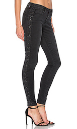 Узкие джинсы на шнуровке - Etienne Marcel