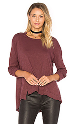 Slouchy overlay shift long sleeve top - Wilt