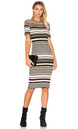 Полосатое платье в рубчик - Autumn Cashmere