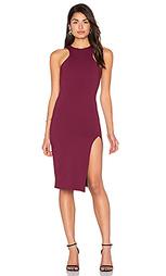 Миди платье с угловыми шлейками с разрезом - Donna Mizani