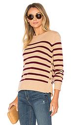 Полосатый свитер с пуговицами сбоку breton - Autumn Cashmere