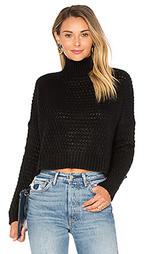Прямой укороченный свитер с ложный воротом - Autumn Cashmere