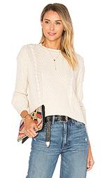 Прямой вязаный свитер с круглым вырезом - Autumn Cashmere