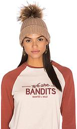 Кашемировая шапочка с помпоном из меха енота haven - 360 Sweater