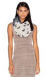 Кашемировый шарф с рисунком череп - 360 Sweater
