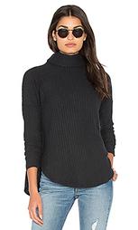 Плюшевый пуловер с высоким воротом - Bella Luxx