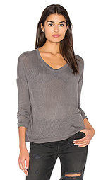 Sheer rib pullover top - Bella Luxx