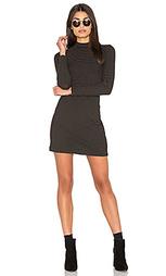 Полосатое мини платье в рубчик с ложным воротником - Bella Luxx