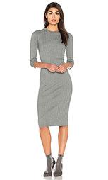 Вязаное платье в рубчик - Bella Luxx