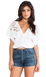 Блузкa кружево укороченный топ plumeria blouse - Tiare Hawaii