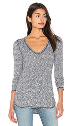 Long sleeve u neck unfinished edge top - Michael Stars