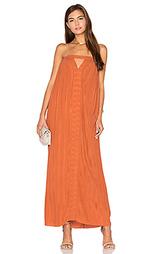 Плиссированное жатое платье с вшитым бюстгальтером - KITX