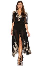 Кружевное вечернее платье с запахом в античном стиле - Nightcap