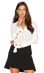 Grommet lace blouse - ANIMALE