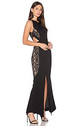 Макси-платье с вырезом arabella - aijek