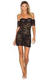 Подгоняемое платье-комбинация с открытыми рукавами petunia - else