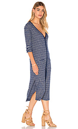 Alline stripe loose knit long sleeve button up dress - Splendid