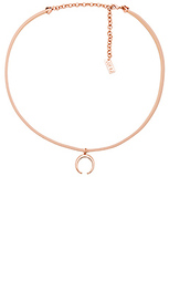 Leather wrap charm choker - Luv AJ