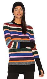 Полосатый свитер с круглым вырезом - White + Warren