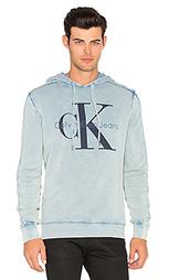 Sulphur dyed acid wash hoodie sweatshirt - Calvin Klein