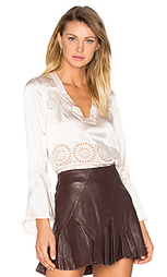 V-neck flutter sleeve blouse - DEREK LAM 10 CROSBY
