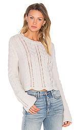 Beyonce bell sleeve crop sweater - 27 miles malibu
