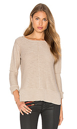 Long sleeve engineered stitch crew neck sweater - Michael Stars