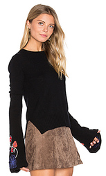 Embroidered bell sleeve sweater - Autumn Cashmere