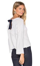 Tie back boxy crop sweater - Autumn Cashmere