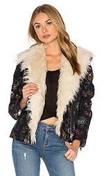 Jaquard wool & faux fur jacket - Free People