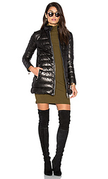 Down filled quilted leather coat - DOMA