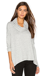Basket jacquard cowl neck pullover - Heather