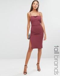 Платье миди на бретельках с открытой спинкой Missguided Tall - Красный