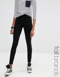 Черные джинсы с бахромой Noisy May Tall Paris - Черный