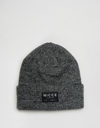 Черная меланжевая шапка-бини Nicce - Черный