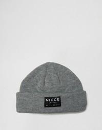 Серая шапка-бини Nicce - Серый