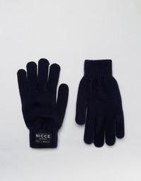 Темно-синие перчатки Nicce - Темно-синий