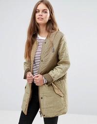 Стеганая куртка-сафари Maison Scotch - Зеленый