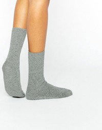 Johnstons of Elgin Grey Cashmere Ankle Socks - Серый