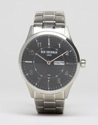 Наручные часы с индикацией даты и дней недели Ben Sherman Spitalfields WB002BM - Серебряный