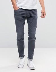 Серые выбеленные джинсы слим Jack & Jones - Серый