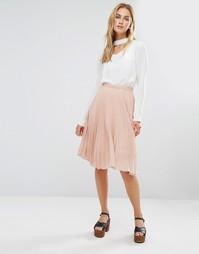 Плиссированная юбка миди Fashion Union - Розовый