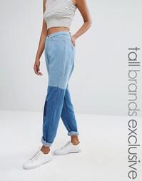 Джинсы в винтажном стиле с контрастной отделкой Daisy Street Tall - Синий