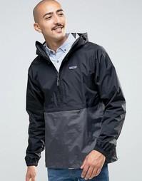 Черная водонепроницаемая куртка через голову Patagonia Torrentshell - Черный